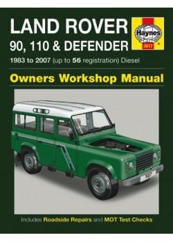 LAND ROVER 90 110  & DEFENDER DIESEL 1983-07 - OWNERS WORKSHOP MANUAL