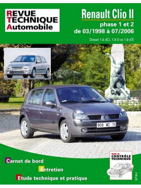 RTA118 RENAULT CLIO II PHASE 1 ET 2 DIESEL 03/1998-07/2006