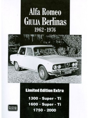 ALFA ROMEO GIULIA BERLINAS 1962-76 LIMITED EDITION ULTRA
