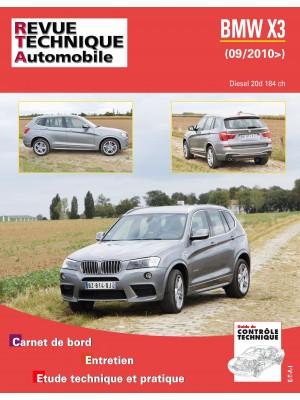 RTAB767 BMW X3  2.0 DIESEL 184 CH. depuis 09/2010