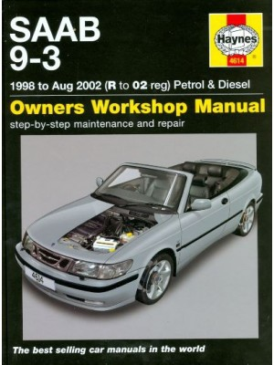 SAAB 9-3 PETROL & DIESEL 98-MAY02 - OWNERS WORKSHOP MANUAL