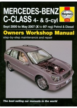 MERCEDES CLASS C 2000-07 4 & 5 CYL PETROL & DIESEL OWNERS WORKSHOP ..
