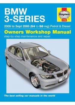 BMW 3-SERIES PETROL & DIESEL E90 & 91 2005-08 - OWNERS WORSHOP MANUAL