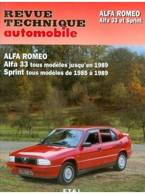 RTA451 ALFA 33 TOUS TYPE (1983-89) SPRINT (1985-89)