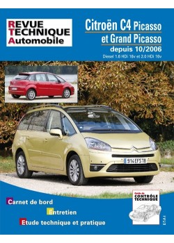 RTAB723 C4 PICASSO DEPUIS 10/06 DIESEL 1.6HDI 2.0HDI 16V.