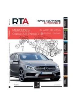 RTA811 MERCEDES CLASSE A III PHASE 1 1.5 CDi 109 CH 06/12-06/15