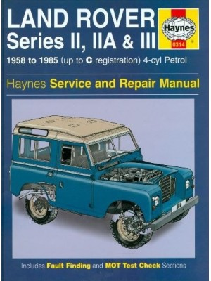 LAND ROVER PETROL SERIES IIA III 1958-85 - SERV. & REPAIR MANUAL