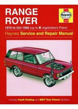 RANGE ROVER V8 PETROL 1970-92 - OWNERS WORKSHOP MANUAL