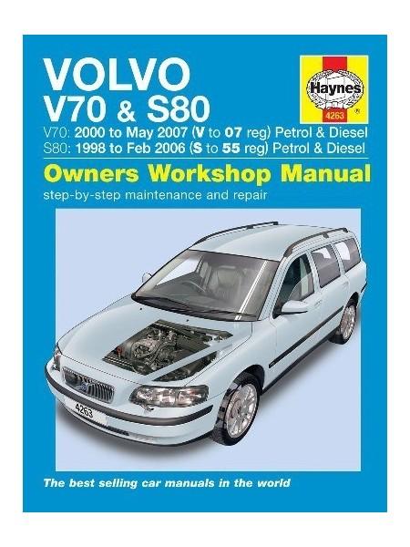 VOLVO V70/S80 PETROL & DIESEL 1998-07 - OWNERS WORKSHOP MANUAL
