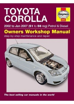 TOYOTA COROLLA PETROL & DIESEL 2002-07 - OWNERS WORKSHOP MANUAL