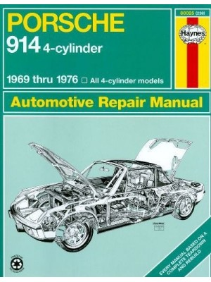 PORSCHE 914 4 CYL 1969-76 - AUTOMOTIVE REPAIR MANUAL