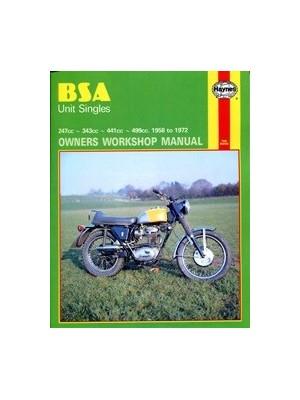 BSA UNIT SINGLES 1958-72 - OWNERS WORKSHOP MANUAL