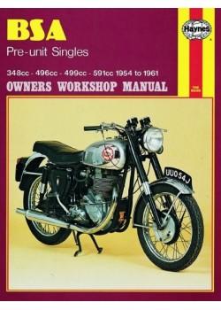 BSA PRE-UNIT SINGLES 1954-61 - OWNERS WORKSHOP MANUAL