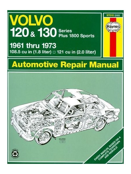VOLVO 120 &130 SERIES PLUS 1800 SPORTS 61-73 AUTOMOTIVE REPAIR MANUAL