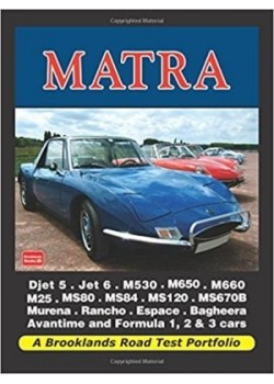 MATRA A BROOKLANDS ROAD TEST PORTFOLIO - Livre de R.M. Clarke