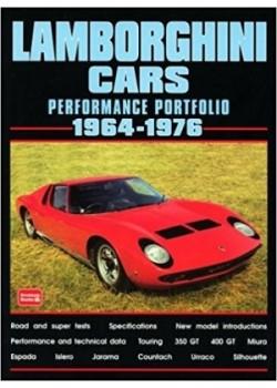 LAMBORGHINI CARS - PERFORMANCE PORTFOLIO 1964-76 - Livre voitures Italiennes