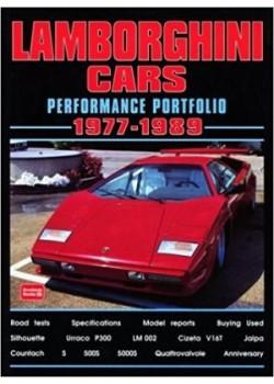 LAMBORGHINI CARS - PERFORMANCE PORTFOLIO 1977-89 - Livre
