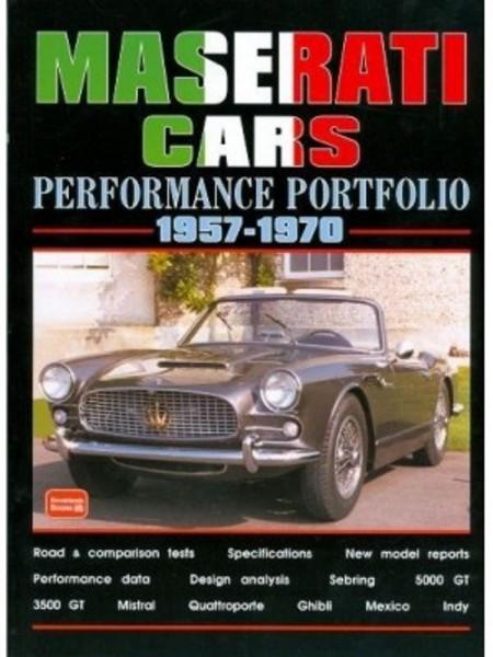 MASERATI CARS PERFORMANCE PORTFOLIO 1957-70 - Livre voitures Italiennes