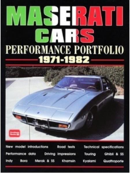 MASERATI CARS PERFORMANCE PORTFOLIO 1971-82 - Livre voitures Italiennes