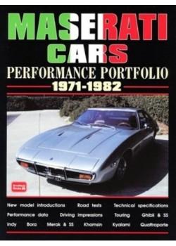 MASERATI CARS PERFORMANCE PORTFOLIO 1971-82