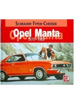 OPEL MANTA 1970-1988 - SCHRADER TYPEN CHRONIK