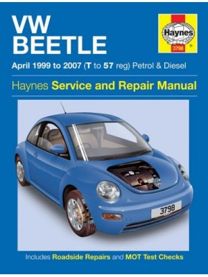 VW BEETLE 04/99-2007 PETROL & DIESEL HAYNES SERVICE AND REPAIR MANUAL