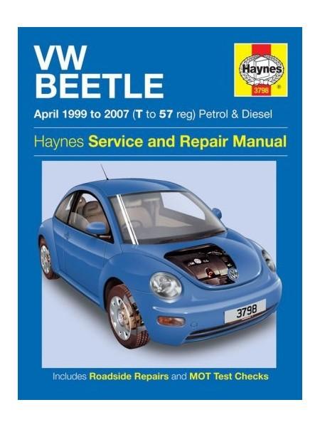 VW BEETLE 04/99-2007 PETROL & DIESEL HAYNES SERVICE AND REPAIR MANUAL