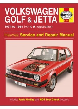 VW GOLF I & JETTA PETROL 1.1 & 1.4 1974-84 - OWNERS WORKSHOP MANUAL