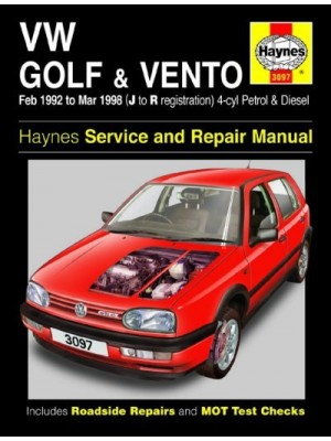 VW GOLF & VENTO PETROL & DIESEL 1992-98 - OWNERS WORKSHOP MANUAL