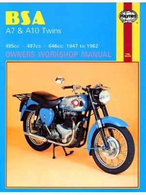BSA A7 & A10 TWINS 1947-62 - SERVICE & REPAIR MANUAL