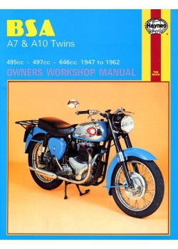 BSA A7 & A10 TWINS 1947-62 - SERVICE & REPAIR MANUAL