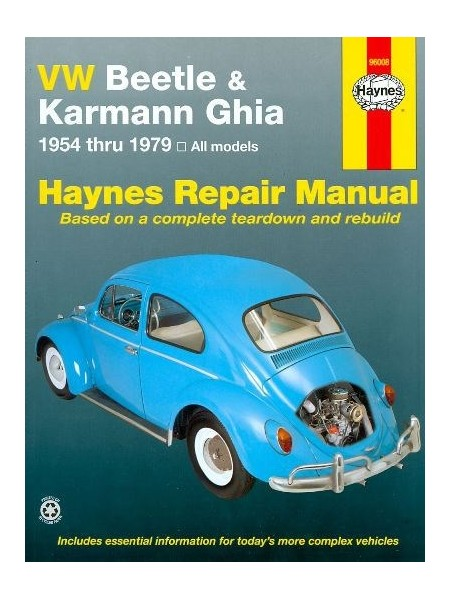 VW BEETLE KARMANN GHIA 1954-79 - HAYNES REPAIR MANUAL