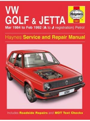 VW GOLF II & JETTA PETROL 1984-92 - OWNERS WORKSHOP MANUAL