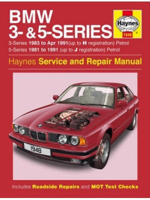 BMW 3- & 5-SERIES PETROL - E30 - 1981-91 -OWNERS WORKSHOP MANUAL