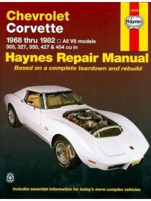 CHEVROLET CORVETTE 1968-82 ALL V8 MODELS - HAYNES REPAIR MANUAL
