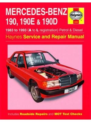MERCEDES 190 190E & 190D PETROL & DIESEL 1983-93 - OWNERS WORKSHOP..