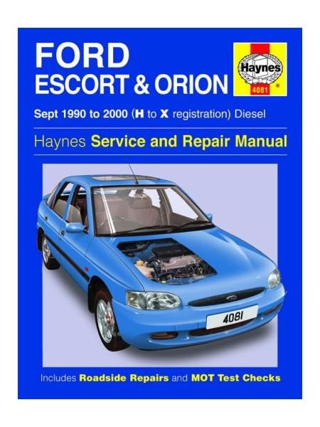 FORD ESCORT & ORION DIESEL 1990-2000 - OWNERS WORKSHOP MANUAL