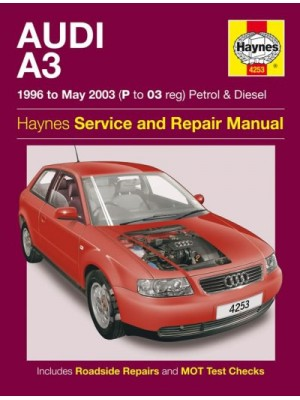 AUDI A3 PETROL & DIESEL 1996-05/2003 - OWNERS WORKSHOP MANUAL