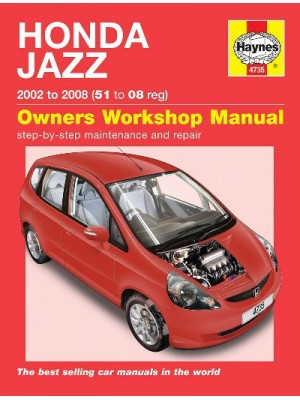 HONDA JAZZ 2002-08 - OWNERS WORKSHOP MANUAL