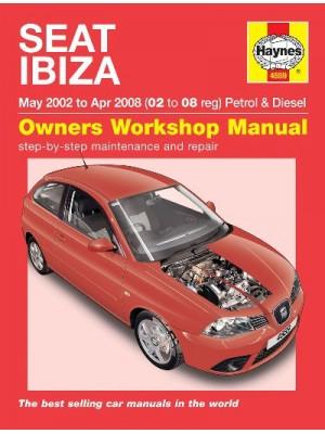 SEAT IBIZA PETROL & DIESEL 2002-08 - OWNERS WORKSHOP MANUAL