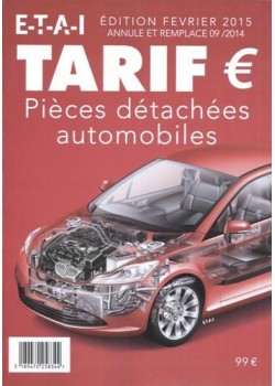 TARIF DES PIECES DETACHEES / DERNIERE EDITION