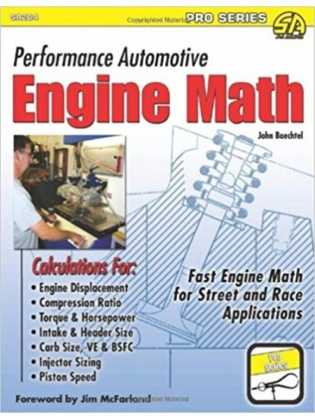 PERFORMANCE AUTOMOTIVE ENGINE MATH - Livre de John Baechtel
