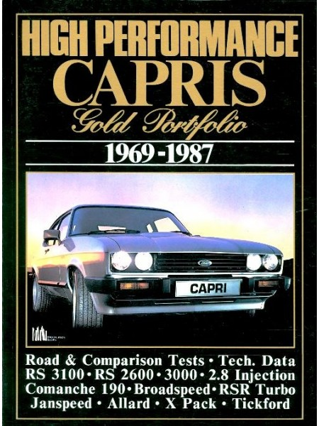 FORD CAPRIS HIGH PERFORMANCE 1969-87 - GOLD PORTFOLIO