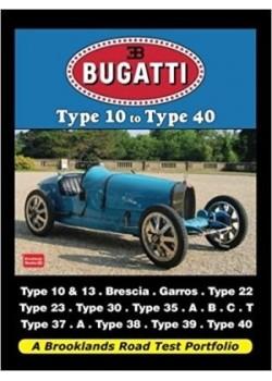 BUGATTI TYPE 10 TO TYPE 40 - ROAD TEST PORTFOLIO - Livre voitures de Marques Françaises