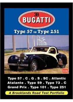 BUGATTI TYPE 57 TO TYPE 251 ROAD TEST PORTFOLIO - Livre voitures de Marques Françaises