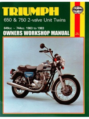 TRIUMPH 650 & 750 2VALVE UNIT TWINS 1963-83 - SERVICE & REPAIR MANUAL