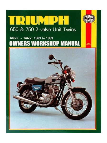 TRIUMPH 650 & 750 2VALVE UNIT TWINS 1963-83 - SERVICE & REPAIR MANUAL