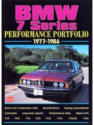 BMW 7 SERIES PERFORMANCE PORTFOLIO 1977-1986
