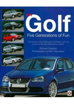 VW GOLF- FIVE GENERATIONS OF FUN - PAPERBACK