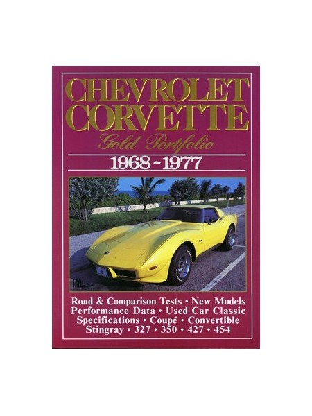 CHEVROLET CORVETTE 1968-77 GOLD PORTFOLIO